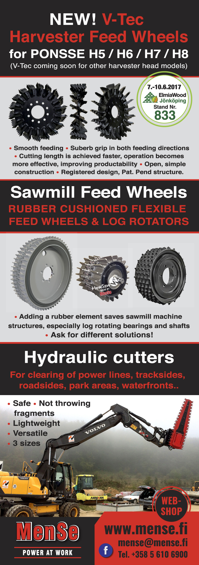 New V-Tec Harvester Feed Wheels