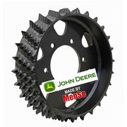 Aggressive steel feed wheel 20x24 for John Deere H480C (Poclain) harvester heads