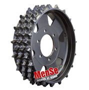 Aggressive steel feed wheel for John Deere H480 (Danfoss) harvester heads