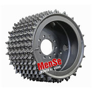 Aggressive steel feed wheel 22x25 for Charlier 452 harvester heads