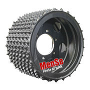 Aggressive steel feed wheel 22x18 for Charlier 572 harvester heads