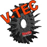 V-TEC feed roller for John Deere H414 harvester heads