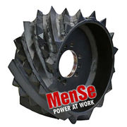 Debarking upper feed wheel for Ponsse H7 harvester heads