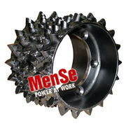 Upper feed wheel for Komatsu 350, 365, C93 and C123 harvester heads