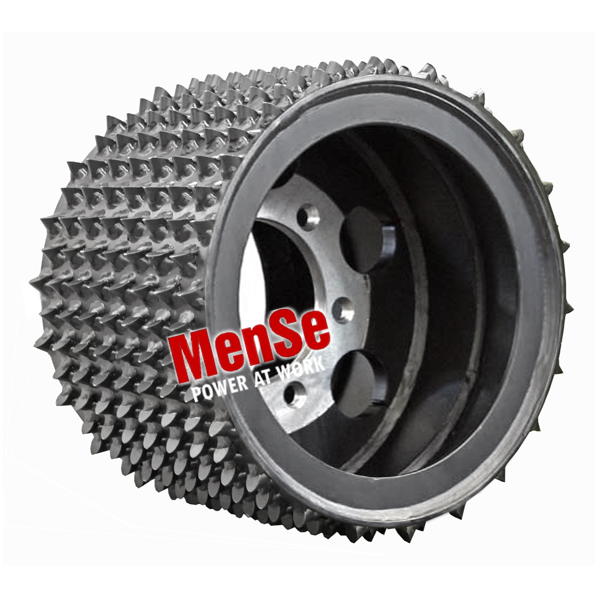 Aggressive steel feed wheel 22x20 for Jor John Deere H270, H762 and Waratah HTH260 harvester heads