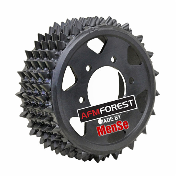 Aggressive steel feed wheel 25x25 for AFM 60 harvester heads