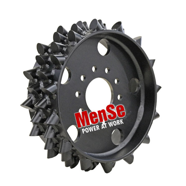 Aggressive steel feed wheel 30x30 for Ponsse H7 harvester heads